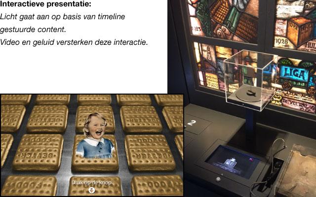 Tongerlo museum interactieve media Pre-Pare, touchscreen, mediaplayer, BrightSign, push button, sensor